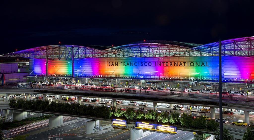 Aeroporto de São Francisco na Califórnia livre de garrafas plásticas de água