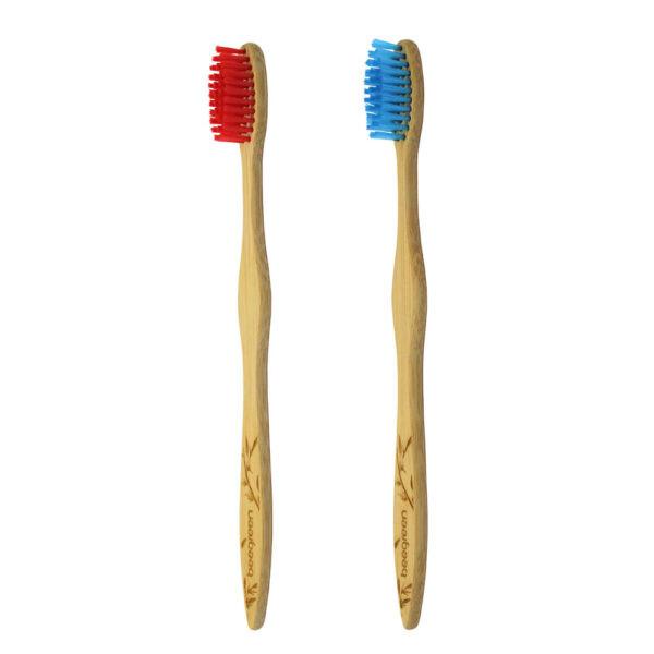 kit eco sorriso com 2 escovas de dente de bambu Beegreen®
